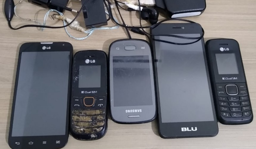 Policia apreende 6 celulares durante 'Bate Grade' na cadeia de Capitão
