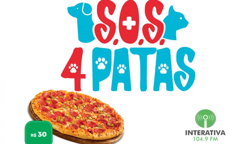 Para arrecadar fundos, ONG S.O.S 4 Patas de Capitão lança promoção de venda de pizzas