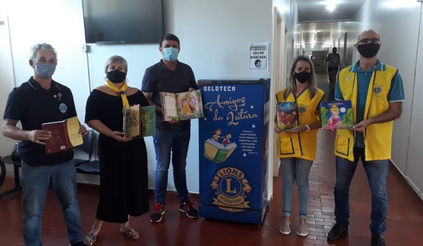 Lions entrega Geloteca para o Hospital Nossa Senhora Aparecida de Capitão