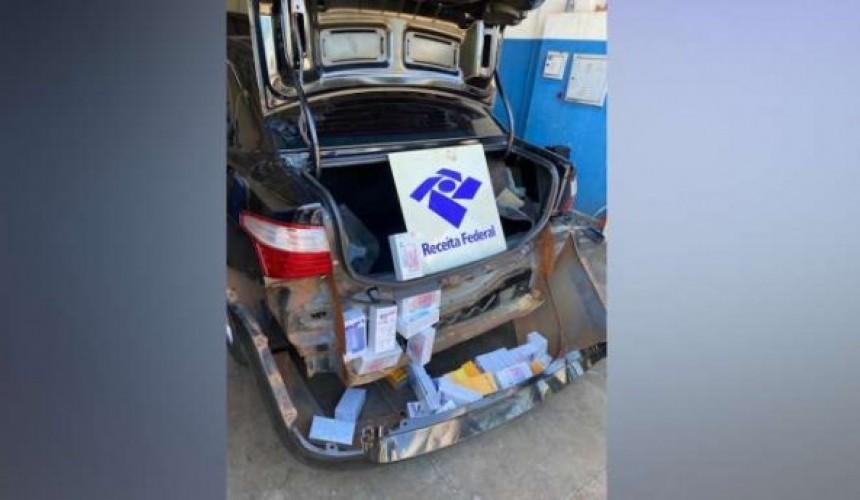 Receita Federal apreende 50 celulares ocultados em veículo em Vera Cruz do Oeste