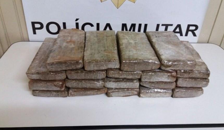 Polícia Militar apreende 19 quilos de maconha durante Operação Segura II em Realeza