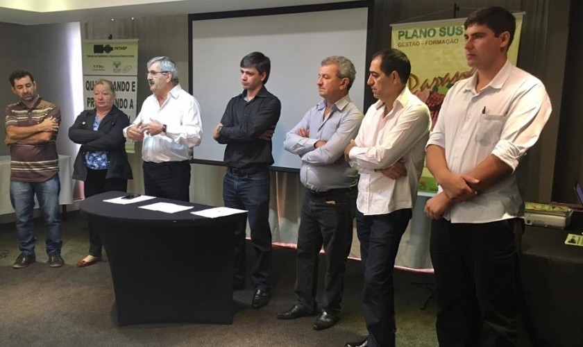 Presidente do STR de Capitão participou do Coletivo de Política Agrícola em Curitiba na FETAEP