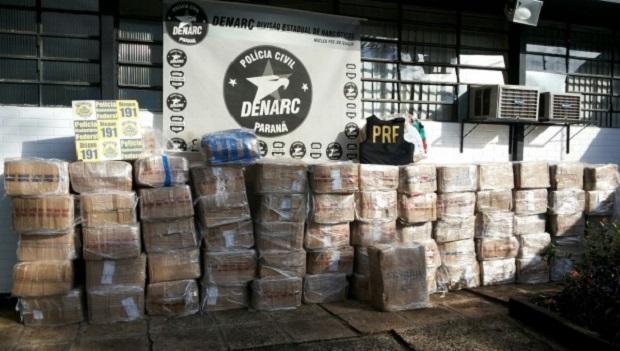Quase 3 toneladas de maconha  em carga de cebola e alho