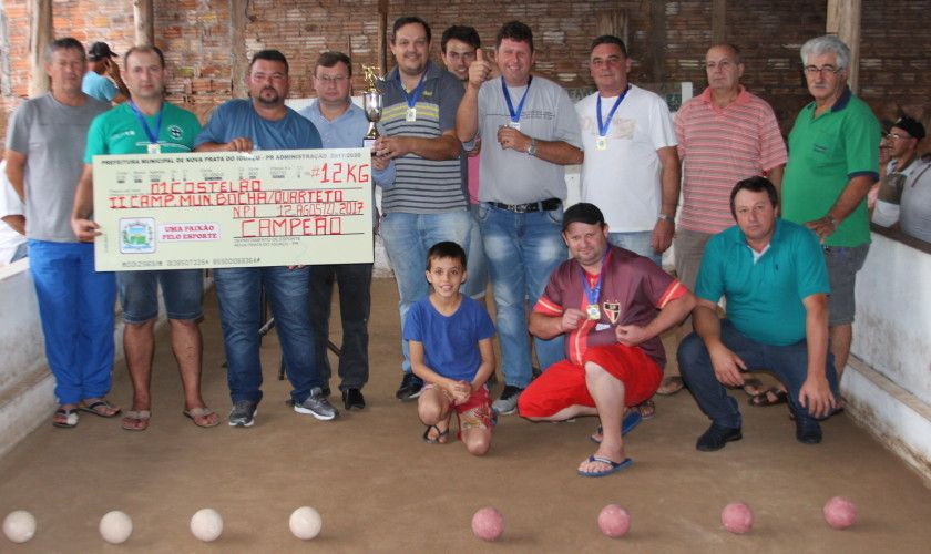 Pauleto Embutidos é campeão do Campeonato de Bocha em Quarteto em Nova Prata