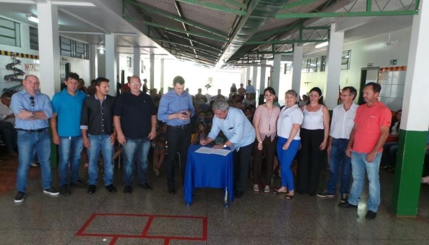 Usina Baixo Iguaçu faz a entrega da ampliação da Escola Municipal Santa Mônica