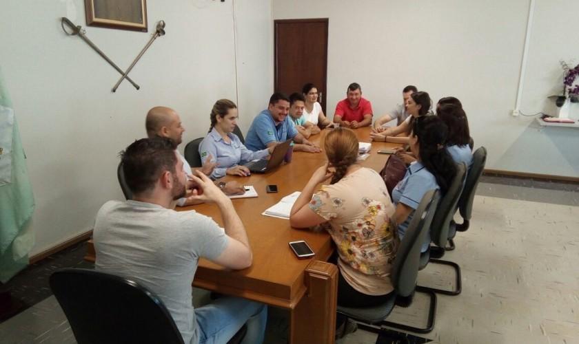 Diretoria do hospital de Capitão e Consorcio Baixo Iguaçu discutem reforma no hospital