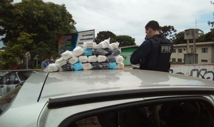 PRF apreende mais de 26 kg de pasta base de cocaína na BR-163 em Capitão