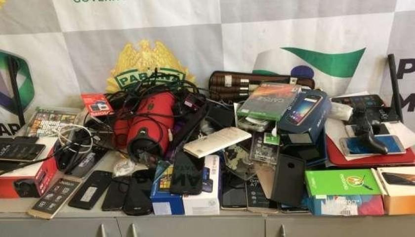 Ação da PM resulta em cinco detidos e objetos recuperados que foram furtados em Capitão