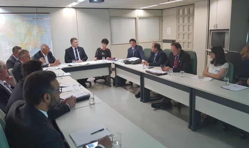 Prefeito de Capitão se reúne com o Ministro da Saúde em Brasilia para tratar da construção do hospital