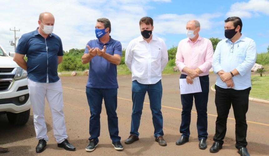 Prefeito de Capitão visita Usina Baixo Iguaçu e trata questões do PACUERA