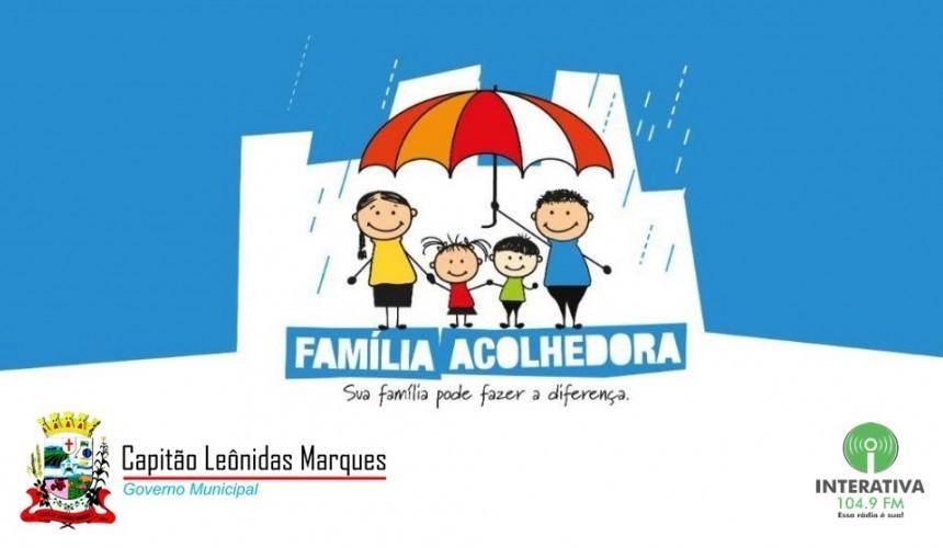 Está aberto o prazo de inscrições para o programa Família Acolhedora em Capitão