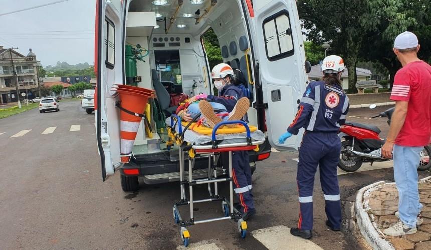 Motociclista fica feria após colisão no Centro de Capitão