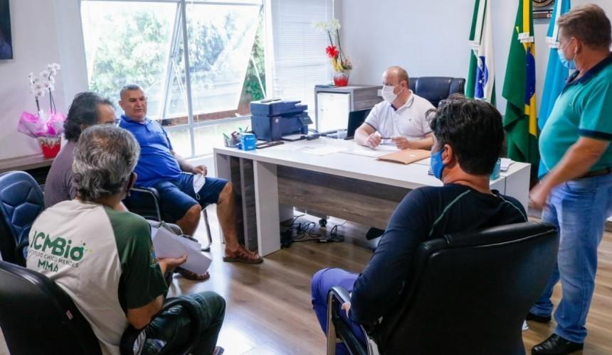 Em reunião com o ICMBio, Prefeito  discute projetos de preservação em  Capitão