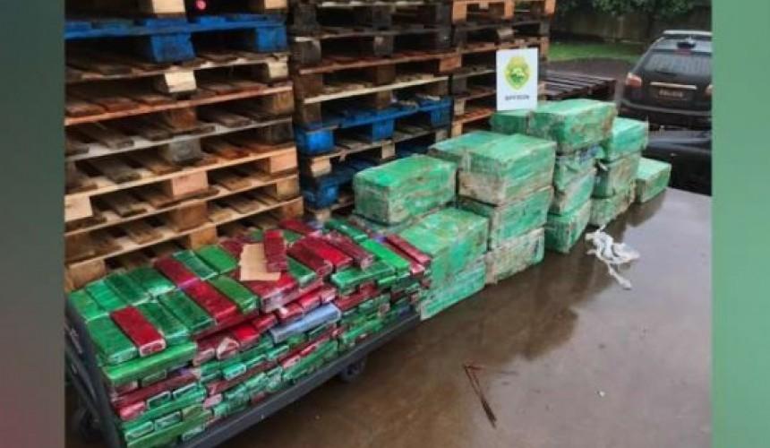 Mais de 800 Kg de maconha que iriam para Cascavel são apreendidos pelo BPFron