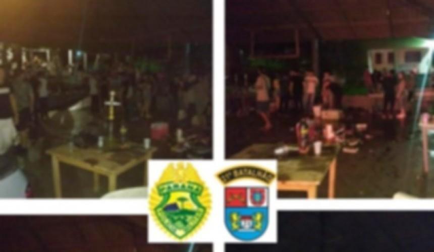 Polícia Militar acaba com festa clandestina com mais de 200 pessoas em Dois Vizinhos