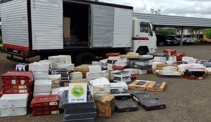 Polícia Militar de Santo Antônio do Sudoeste apreende carregamento de vinhos avaliados em R$ 500 mil reais