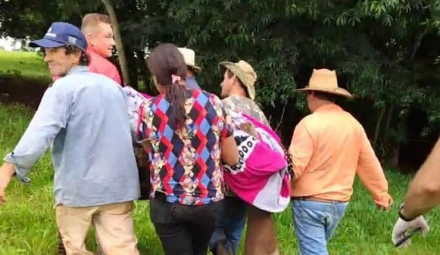 Após desaparecimento, morador de Santa Lúcia é encontrado e resgatado pelos bombeiros de Cascavel