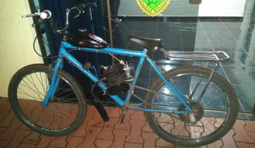 Menor conduzindo bicicleta motorizada é apreendido pela PM em Capitão