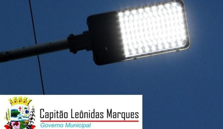 Lâmpadas de LED trazem modernidade e economia na iluminação pública de Capitão