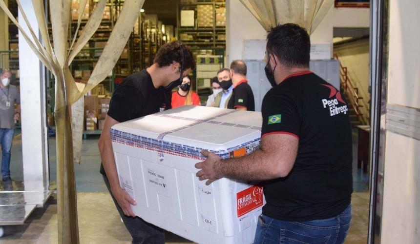 Mais 242 mil doses de vacina contra a Covid-19 chegam ao Paraná