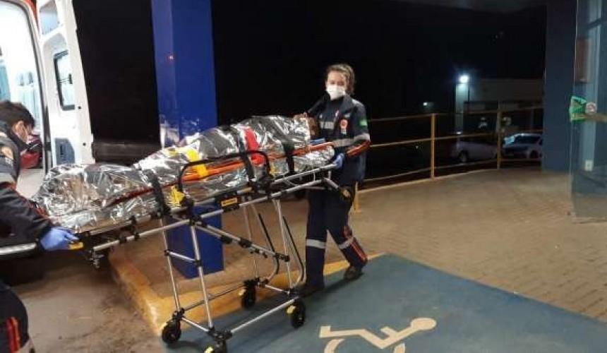 Vítima de golpes de faca é encaminhada em estado grave ao Hospital Universitário