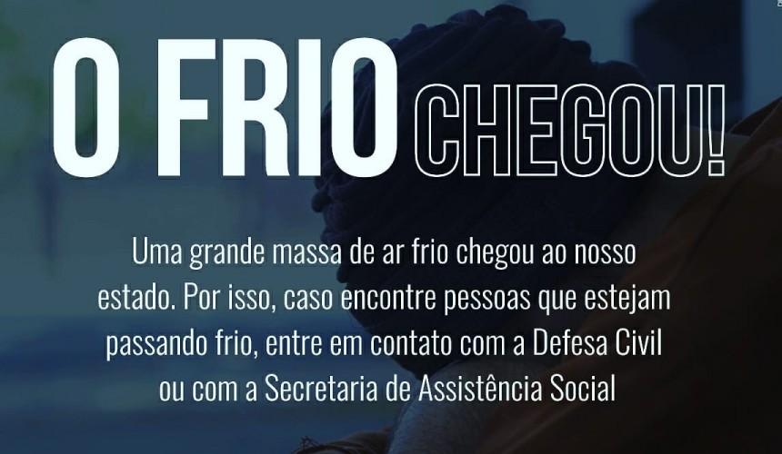 FRIO: Assistência Social de Capitão disponibiliza cobertores e abrigo para pessoas em vulnerabilidade