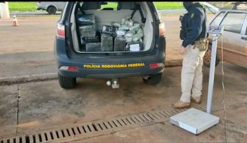 PRF prende dois homens transportando haxixe, skank e maconha na divisa do PR com MS