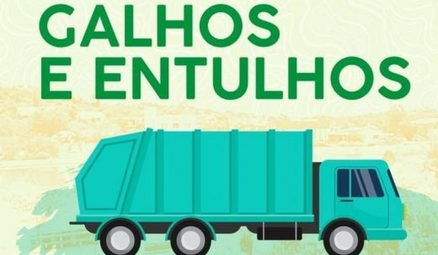 Coleta de galhos e entulhos acontecerá segunda-feira no distrito do Bom Jesus em Capitão