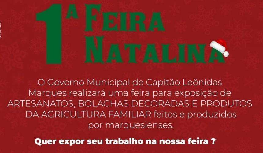 Capitão vai promover Feira Natalina com produtos produzidos no município