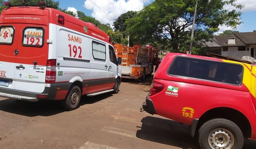 Duas pessoas ficam feridas após colisão entre carro e moto em Capitão